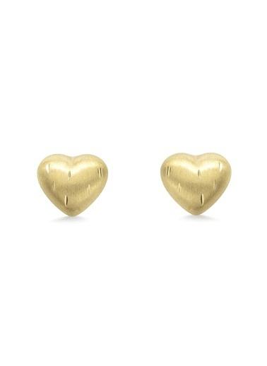 Amor A 2013408 9 Ayar Kalp Kız Çocuk Küpe Renksiz